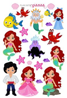 Disney LITTLE MERMAID Inspired Themed Planner by PlanwithPizazz