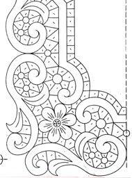 ::ARTESANATO VIRTUAL - Tecnicas de Artesanato | Dicas para Artesanato | Passo a Passo:: Cutwork Embroidery, Embroidery Patterns Free, Lace Patterns, Mosaic Patterns, Vintage Embroidery, Embroidery Stitches, Quilt Patterns, Embroidery Designs, Lace Painting