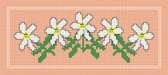 flowers bookmark - free cross stitch pattern