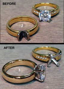 Cool Gold ring restored with replacement stone and new claw setting