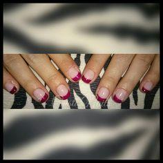 Nails francesa burdeos