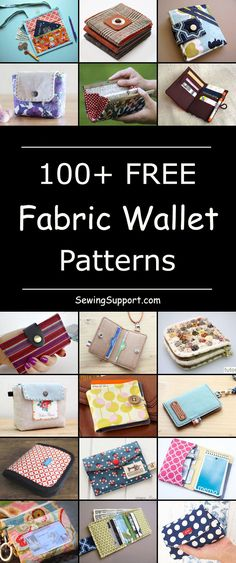 Over 100 free fabric wallet patterns to sew. Many simple and easy designs includ… Over 100 free fabric wallet patterns to sew. Many simple and easy designs including clutch, zipper, keychain, accordion, and card wallets. Purse Patterns, Sewing Patterns Free, Free Sewing, Free Pattern, Clothes Patterns, Dress Patterns, Pattern Ideas, Sew Wallet, Fabric Wallet