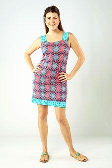 Shania Shift Dress- Greek Key Pink: $129.00  www.tracynegoshian.com