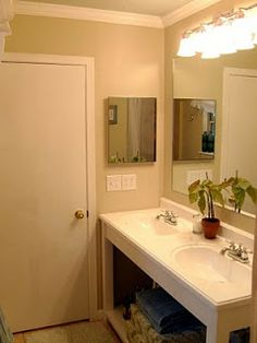 Remodelaholic | Master Bath; Retro Remodel Asheville House DIY Bathroom Vanity