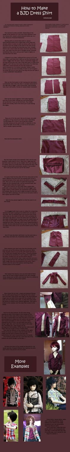How to Make BJD Dress Shirts by RodianAngel.deviantart.com on @deviantART