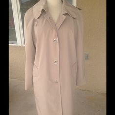ONE DAY SALELondon Fog Trench Coat Great looking trench coat with removable hood. Shell and lining are 100% Polyester. Machine washable London Fog Jackets & Coats