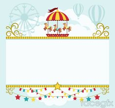 Beautiful carousel text background vector