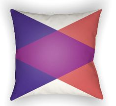 20 Moderne Pillow in Blue, Purple & Red