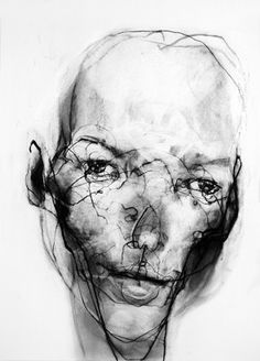 Kate Moss Abstract Charcoal Drawing..... something I need to work on is making my drawings interesting. Break out of my box and find my edge.