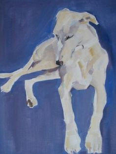 Dogs in Art at the StockBridge Gallery - Longdog  Portrait Sample by Sally Muir, Portraiture Sample Not for Sale (http://www.dogsinart.com/products/Longdog--Portrait-Sample-by-Sally-Muir.html)