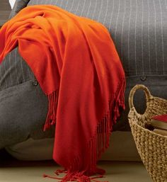 Bamboo Velvet Throw: Wrap yourself in cashmere-like elegance with this cozy throw made from rayon from sustainable bamboo
