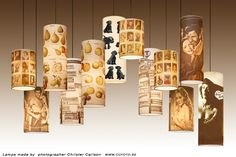 self made lamps on photo print transparent paper look into how these are made for other projects