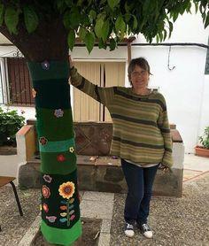 Yarn bomb en Jubrique, Málaga (ES)