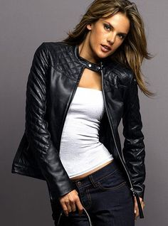 A good basic wardrobe item - leather jacket