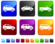 Car Rental Choices royalty free vector icon set stickers vector art illustration