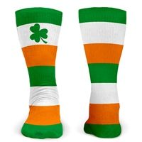 Lacrosse Printed Mid Calf Socks Shamrock with Stripes - Exclusively from LuLaLax.com!