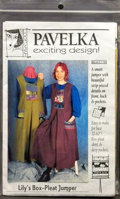 "Pavelka sewing pattern Lily's Box-Pleat Jumper dress bust 32"" to 60"" deep pockets, uncut, Free US shipping, by FindersofKeepers, $14.97"