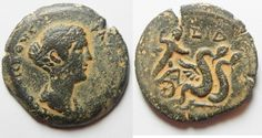 Ancient Coins - IMPORTANT COIN: Egypt. Alexandria under Faustina. AE drachm…