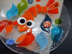 Lobster fused glass