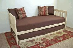 Mission Daybed with Trundle (Unfinished)....extra bed