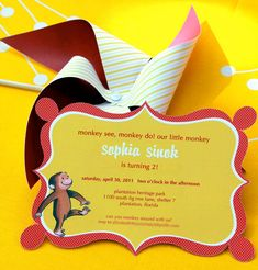 An adorable and not-at-all obnoxious Curious George themed party . . . perfect for S's 2 yr party.