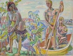 """""""Familie i båt"""" (1952)"""