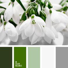 greenery, белый, оттенки зеленого, оттенки серого, подбор цвета для дома, почти белый, свадебное цветовое решение, серебристый, серебрянный, серебряный, серый, тёмно-зелёный, цвет листьев, цвет серебра, цвета Pantone 2017, цвета весны, цвета