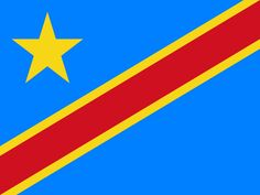 This is the national flag of Democratic Republic of the Congo, a country found in Central Africa. Want to learn more? Check out these Democratic Republic of the Congo maps. Flags Of The World, Countries Of The World, African Countries, African States, Lucky Beer, Rd Congo, Nuremberg Germany, Germany Berlin, Geography
