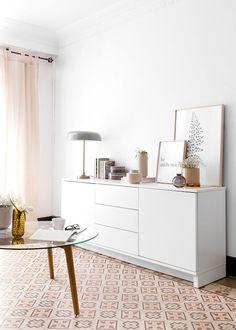 Mueble blanco Trend | Color blanco, ¡un básico para el hogar! El mueble de tv Trend en blanco es bonito y práctico, perfecto para colocar en el salón y guardar todo lo que necesites. Esta serie es modular, por lo que se puede hacer la composición que más se ajuste a tus necesidades. Ponte en contacto con nosotros para conocer todas las opciones y acabados. ¡Podrás diseñar tu propio espacio!  #kenayhome #home #mueble #tv #aparador #blanco #lacado #madera #decoración #interior #salón #comedor Decor, Furniture, Room, Interior, House Styles, Home Decor, Room Inspo, Interior Design, Build My Own House