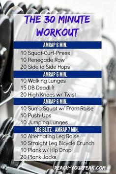 Fitness Motivation : Illustration Description AMRAP: 30 Minute Total Body Workout -Read More – Amrap Workout, Boot Camp Workout, Cardio, Boxing Workout, Fat Workout, Fitness Tips, Fitness Motivation, Health Fitness, Fitness Classes