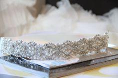 Ivory Bridal Sash/Belt With Beaded Swarovski Crystal,Pearl & Rhinestone Flowers