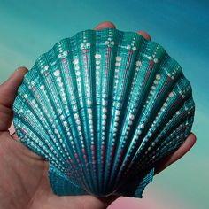 Large Painted Seashell Mermaid Treasure Painted Seashell in Metallic Turquoise This seashell measures about 4.5 by 4.5 inches. Painted with a metallic Turquoise blended background and touches of metallic pink and Pearl white to accentuate the beauty of this shell. This seashell looks like a beautiful clear turquoise sea. I have applied a non toxic protective clear coat to this shell, meant for indoor use only. Signed and dated on the inside this is a one of a kind piece. Your painted…
