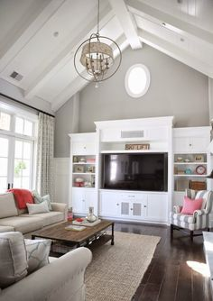 Sunny Side Up living room. I love the vaulted ceiling.