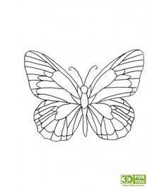 Вышивка бабочек трафарет