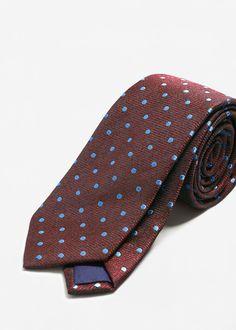 Pöttyös mintás nyakkendő | MANGO MAN