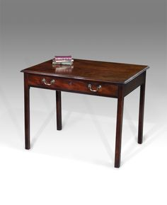 Side Table, Dressing Table   Good Quality George III Mahogany Writing Table,  In Fine