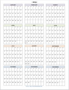 Free Printable Yearly Calendar  Planners  Bullet Journals