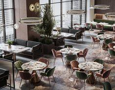 Lounge Design, Cafe Design, Modern Restaurant Design, Loft Style Apartments, Interior Design Guide, Coffee Shop Design, Workspace Design, Restaurant Furniture, Stylish Kitchen