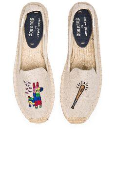 Soludos Pinata Embroidery SM Slipper in Sand