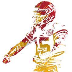 Kansas City Nfl, Kansas City Chiefs Football, Football Art, Canvas Wall Art, Wall Art Prints, Canvas Prints, Chiefs Logo, Nba Wallpapers, Stencil Art