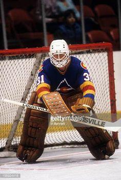 Colorado Rockies - Al Smith Hockey Goalie, Hockey Games, Hockey Players, Ice Hockey, Al Smith, Goalie Mask, Wayne Gretzky, New Jersey Devils, Cool Masks