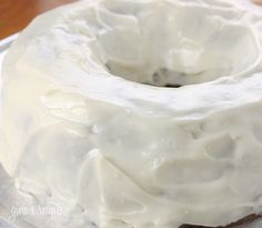 Low Fat Cream Cheese Frosting - A lightened up cream cheese frosting perfect on cupcakes or your favorite cake recipe.