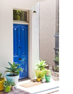 Blue door - entrance