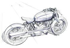 Mac Motorcycles Roarer rear design sketch