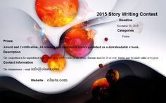 2015 Story Writing Contest Award & Certification. winning n shortlisted stories published as a downloadable ebook.