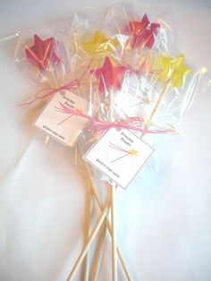 glycerin soap wands - love this idea