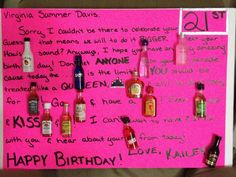 21st Birthday Card For My Best Friend Summer Gifts