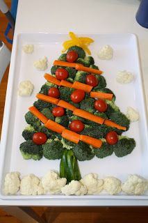 Christmas Tree Veggie Tray- I made one last year but must not have pinned it. Don't want to forget to make it though!