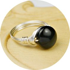 Rainbow Sheen Obsidian Ring   Sterling Silver by SimplyCharmed21