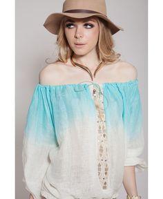 Verano azul Closé BLUSA MACLUK #moda #verano #azul